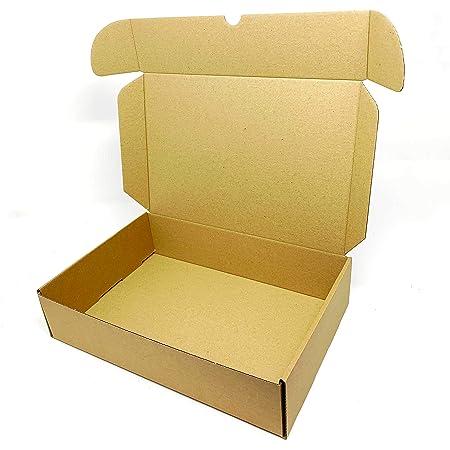 Lot de 5 boîtes d'expédition en carton kraft pour petits colis postaux Marron 280 x 185 x 65 mm