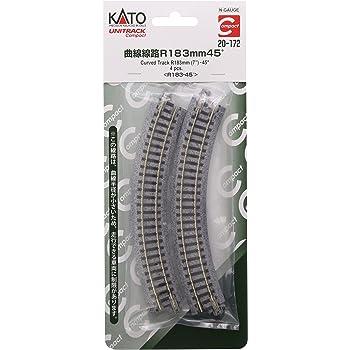 6 Kato USA Model Train Products UNITRACK Compact Tracks 4-Piece Radius//45-Degree 150mm//