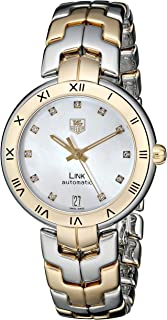 Women's WAT2351.BB0957 Diamond-Accented 18k Gold and Stainless Steel Automatic Watch