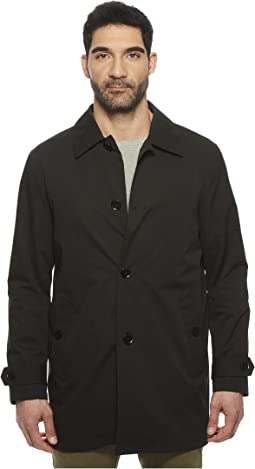 Stand Collar Rain Jacket with Back Hem Vent