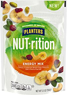 Planters NUT-rition Energy Mix With Dried Cranberries, Lightly Salted, 5.5 oz Bag (Pack of 4)