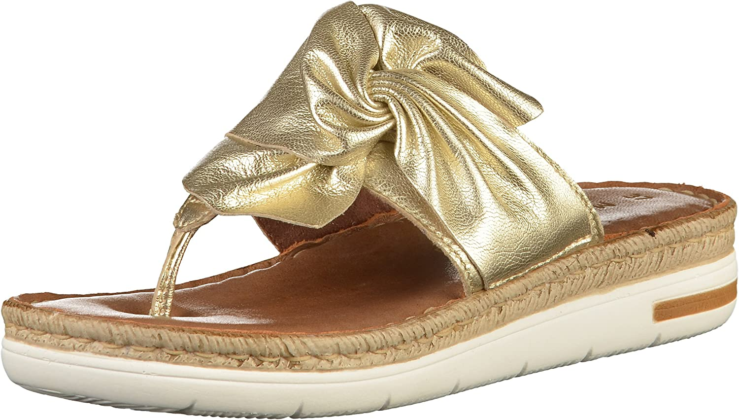 Marco Tozzi Womens Premio Real Leather Thong-Sandal 27212