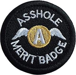 SpaceAuto Asshole Merit Badge Military Tactical Morale Funny Patch - 2.48