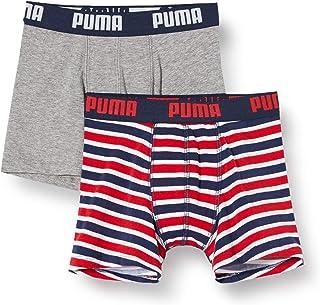 PUMA Classic Printed Stripe Boxer (Pack de 2) para Niños