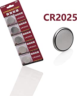 Cotchear CR2025-10 CR2025 3V Lithium Coin Battery (Pack of 5)