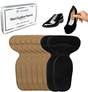 Heel Cushion Inserts for Loose Shoes - Shoe Pads Filler for Too Big Shoes- Men & Women