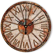 Silent Decorative Wall Clock Abstract Wall Decoration Clock Watch for Living Room Vintage Home Decor Wall Clock Gift,Style 2,14Inch 35Cm