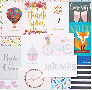 48 Pack Assorted All Occasion Greeting Cards - Includes Birthday Wedding Thank You Note Cards Assortment - Bulk Box Set Variety Pack with Envelopes Included - 48 Designs - 4 x 6 Inches