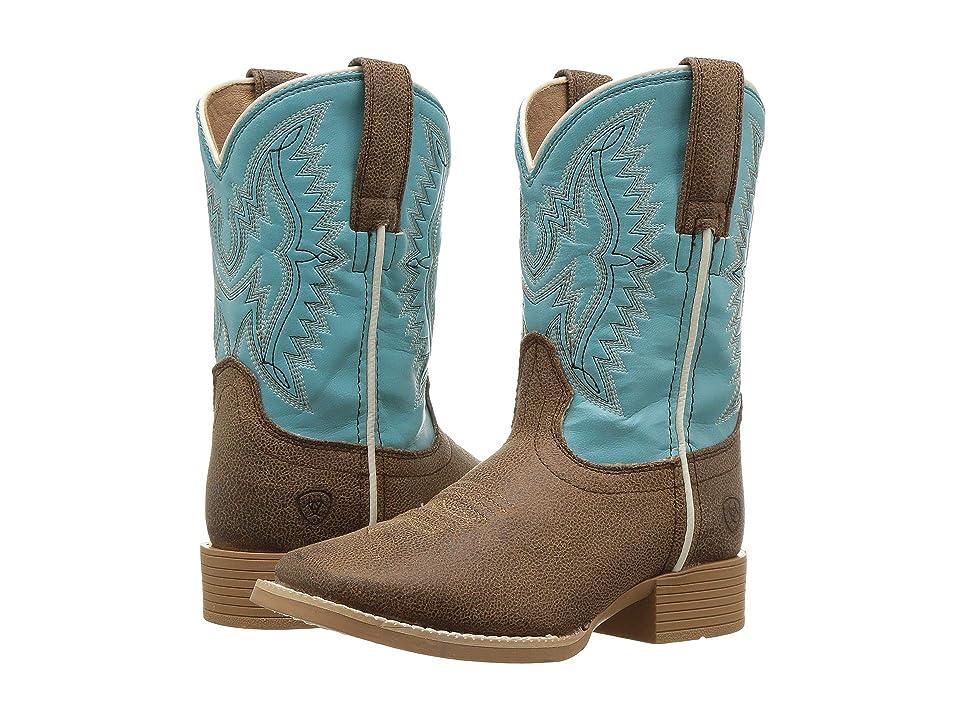 Ariat Kids Bristo (Toddler/Little Kid/Big Kid) (Tan Tilt/Bustin Blue) Cowboy Boots
