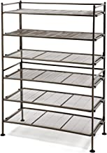 Seville Classics 3-Tier Iron Mesh Utility Shoe Rack (2-Pack), Satin Bronze