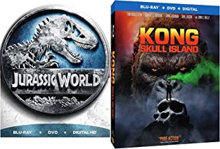 Beasts Rule - Kong: Skull Island Sons of Kong & Jurassic World Exclusive Metal Movie Pack Blu Ray & DVD Double Feature