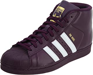 adidas Pro Model J Big Kids Shoes Rednit/White/Gold ac8108 (5.5 M US)
