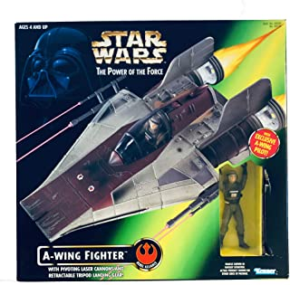 Star Wars: Power of the Force A-Wing Fighter with Pilot Vehi