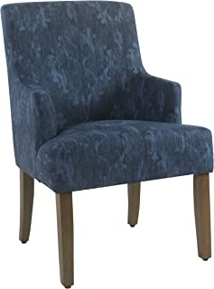 HomePop Meredith Dining Chair, Blue Demask