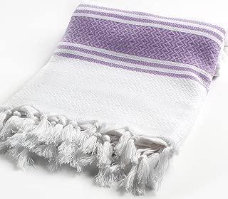 Cacala Bamboo Pestemal Turkish Bath Towel Sarong Unisex 37x71 TM Lilac