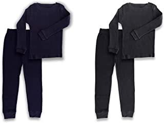 2-Piece Boys Thermal Long Underwear Set – Base Layer Set Cold Weather, Bedtime – Fitted Pajamas Boys