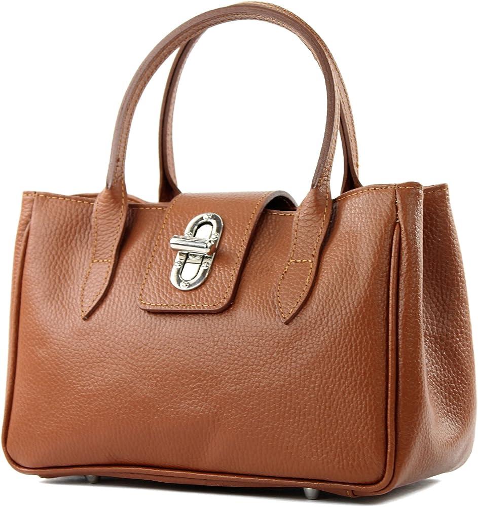 Modamoda de borsa da donna a mano in vera pelle TL03GL-COG_afn