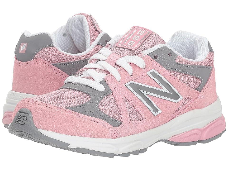 New Balance Kids KJ888v1P (Little Kid) (Pink/Steel) Girls Shoes