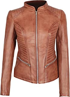 Brown Leather Jacket Women - Genuine Lambskin Black Womens Leather Jacket