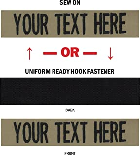 Northern Safari Custom Uniform Name Tapes, 50 Fabrics to choose from! Made in the USA! SHIPS UNDER 24 HRS!