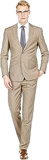 Gino Vitale Men's Slim Fit Sharkskin 2-Piece Suit