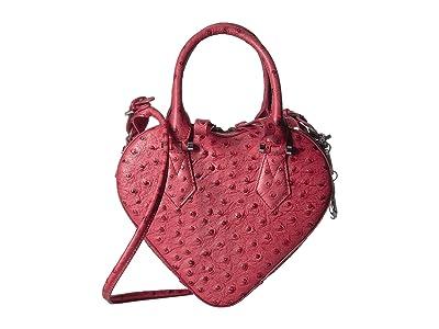 Vivienne Westwood Johanna Heart Handbag (Red) Satchel Handbags