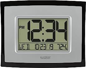 تقنية La crosse wt-8002u ساعة حائط رقمي, Silver, 1 Pack