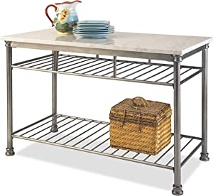 Orleans Kitchen Island with Marble Top by Home Styles