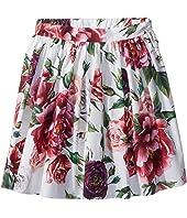 Dolce & Gabbana Kids - Poplin Peonie Skirt (Toddler/Little Kids)