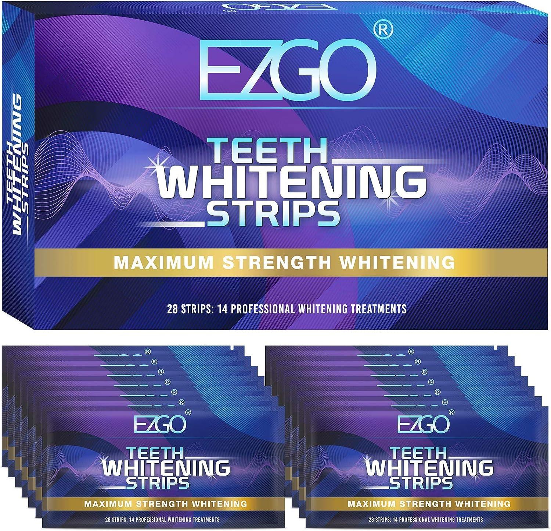 EZGO Teeth Ranking TOP13 Whitening Strips Non-Sensitive White 28 Easy-to-use