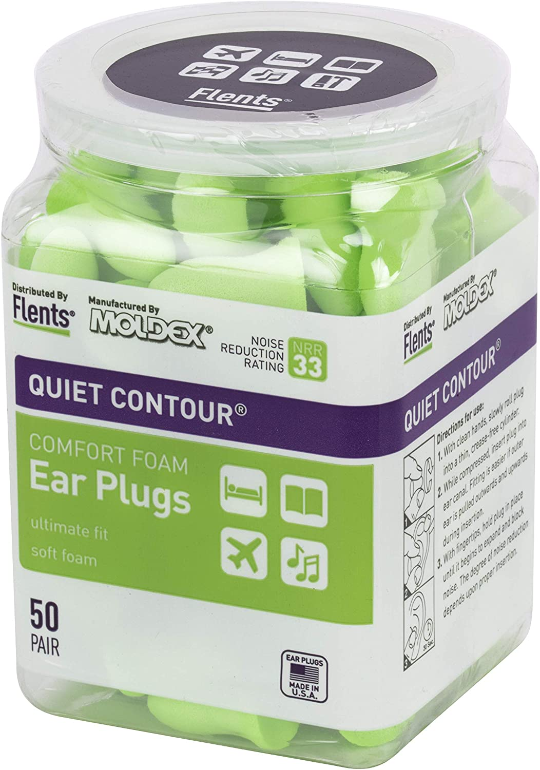 Detroit Mall Flents Ear Plugs 50 High order Pair Loud Snoring Sleeping for