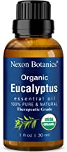 Organic Eucalyptus Essential Oil 30 ml - Pure Natural Therapeutic Grade Eucalyptus Oil - Used in Aromatherapy and Diffuser...