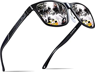 ATTCL Men's Retro Driving Polarized Sunglasses Man Al-Mg Metal Frame Ultra Light
