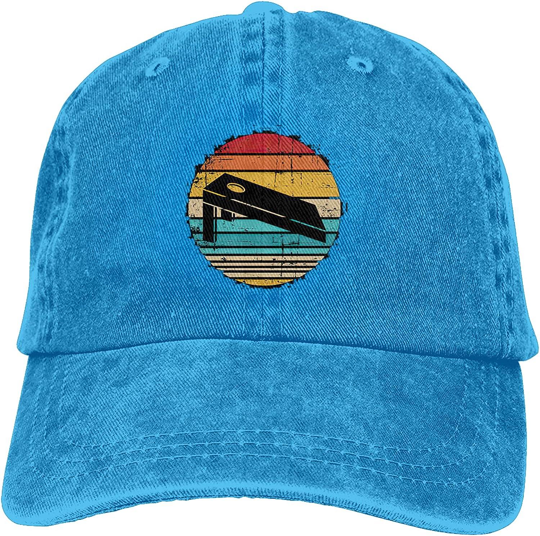 Cornhole Sports Cowboy Hat Men and Women Baseball Cap Retro Dad Hat Adjustable Sun Hat