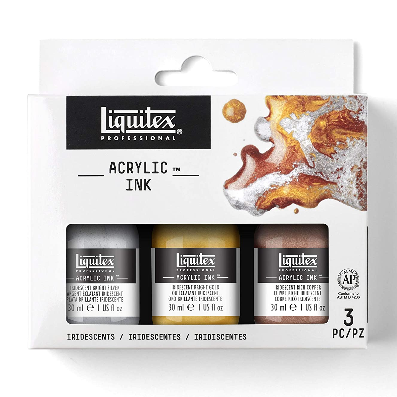Liquitex Professional Acrylic Ink, Iridescent Set