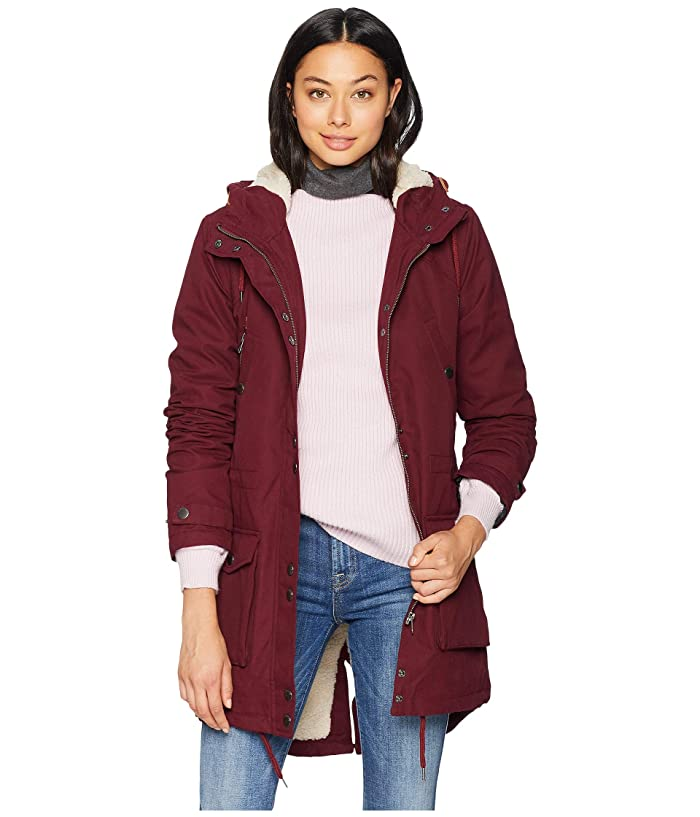 Volcom Walk On By Parka (Burgundy) Women
