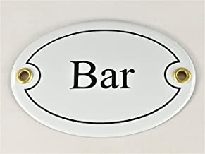 "Ovaal deurbordje emaille"" Bar"", 10,5x7,0cm"