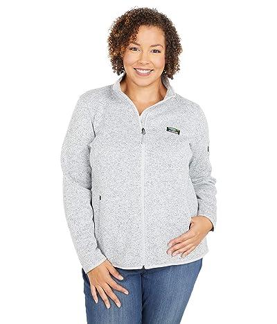 L.L.Bean Plus Size Sweater Fleece Full Zip Jacket (Pewter) Women