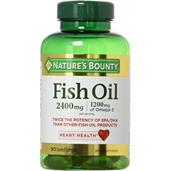 Natures Bounty Fish Oil 2400 mg Double Strength Odorless 90 Softgels (Pack of 2)