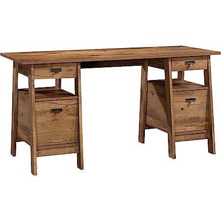 Amazon Com Sauder Anda Norr Executive Desk L 56 3 X W 22 13 X H 29 53 Sky Oak Furniture Decor