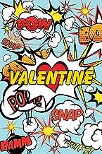 Superhero Cartoon Words Valentine Journal: Comic Book Style Blank Lined Notebook for Valentines Day, Love, Husband, Wife, Spouse, Girlfriend, Boyfriend, Partner