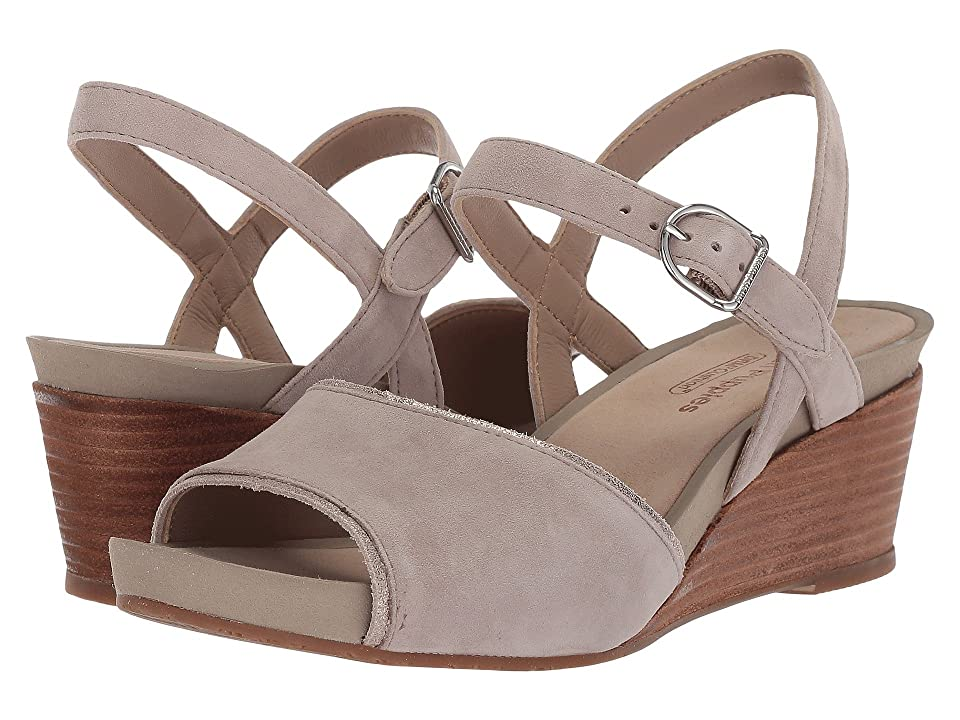 Hush Puppies Cassale Quarter Strap (Ice Grey Suede) Women