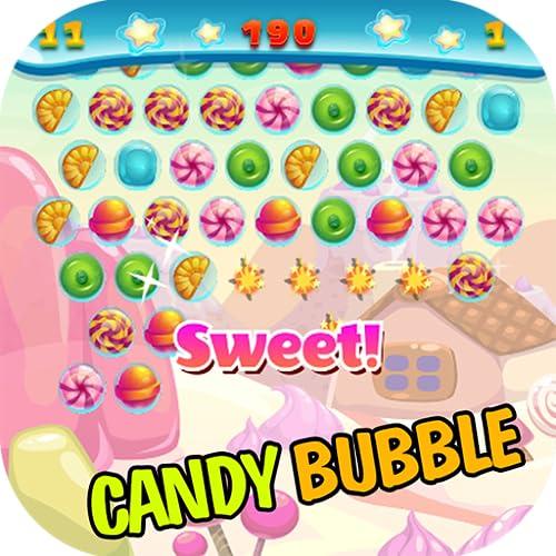 Candy Bubble Shooter - ¡Diviértete gratis disparando juegos simples de combinar 3 caramelos!