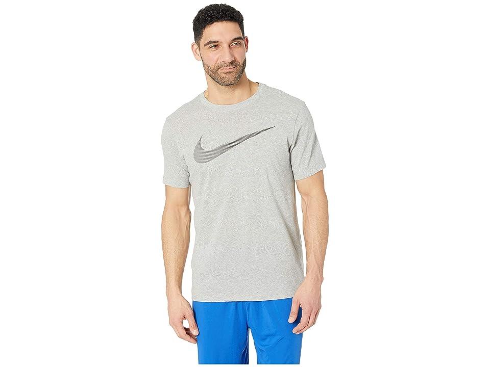 Nike Dry Tee Dri-FITtm Cotton 2 Year Swoosh (Dark Grey Heather/Gunsmoke) Men