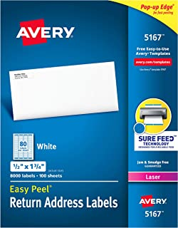 Avery Address Labels with Sure Feed for Laser Printers 0.5