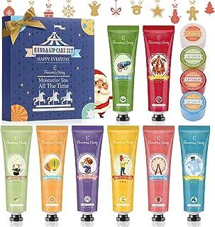 Hand Cream Gift Set, Lip Balm Set, Eleanore's Diary 8 Pcs Deeply Moisturizing Hand Cream and 4 Pcs Moisturizing Lip Balm, ...
