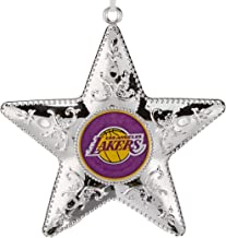 NBA Los Angeles Lakers Silver Star Ornament, 2-Pack
