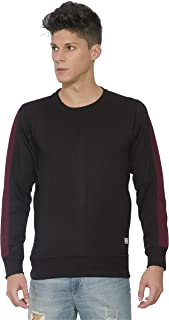 Alan Jones Men's Cotton Solid Panelled Sweatshirt