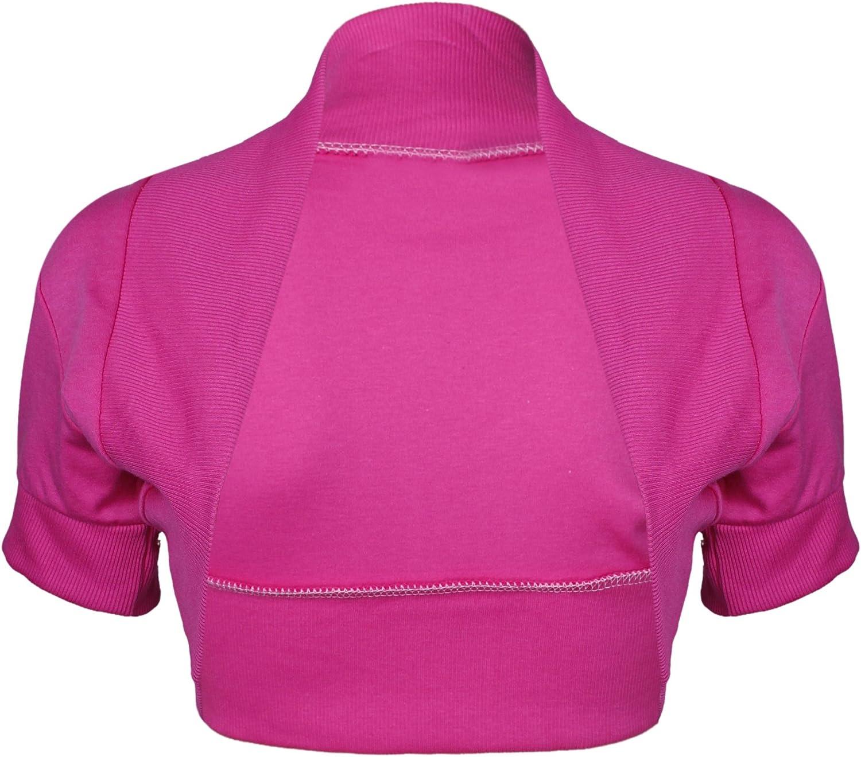 Purple Hanger Women's Bolero Cap Sleeve Cardigan Shrug Top Cerise 16-18