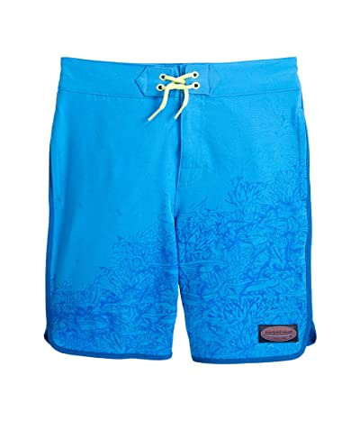Vineyard Vines Kids Magic Print Boardshorts (Toddler/Little Kids/Big Kids) (Tarpon Ocean/Azure Blue) Boy